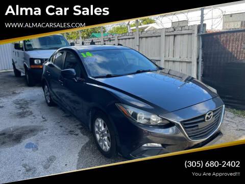 2014 Mazda MAZDA3 for sale at Alma Car Sales in Miami FL