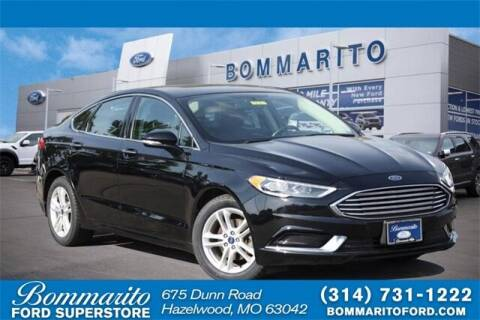 2018 Ford Fusion for sale at NICK FARACE AT BOMMARITO FORD in Hazelwood MO