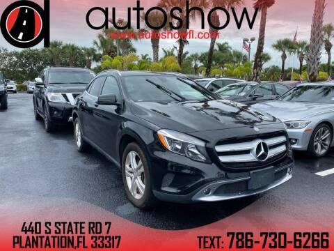 2016 Mercedes-Benz GLA for sale at AUTOSHOW SALES & SERVICE in Plantation FL