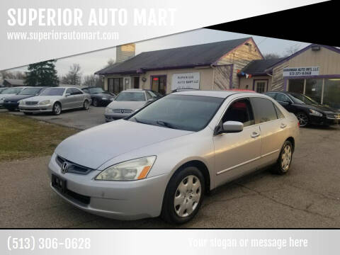 2003 Honda Accord for sale at SUPERIOR AUTO MART in Amelia OH