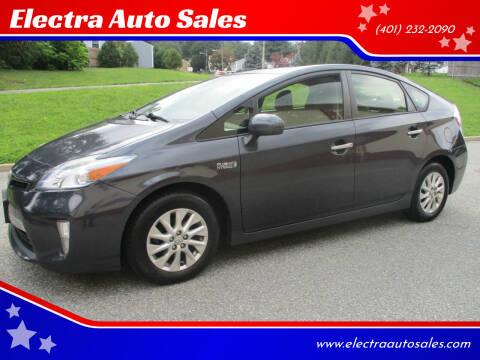2013 Toyota Prius Plug-in Hybrid for sale at Electra Auto Sales in Johnston RI