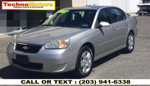 2007 Chevrolet Malibu for sale at Techno Motors in Danbury CT