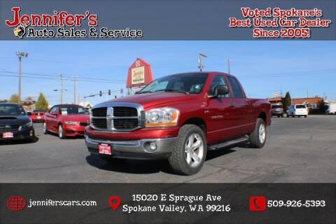 2006 Dodge Ram Pickup 1500 for sale at Jennifer's Auto Sales in Spokane Valley WA