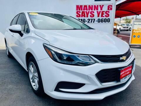 2017 Chevrolet Cruze for sale at Manny G Motors in San Antonio TX