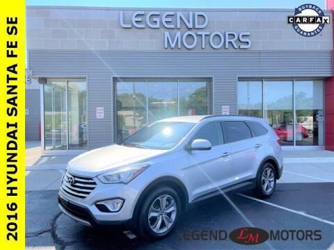 2016 Hyundai Santa Fe for sale at Legend Motors of Waterford in Waterford MI