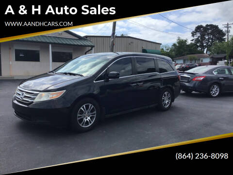 2012 Honda Odyssey for sale at A & H Auto Sales in Greenville SC