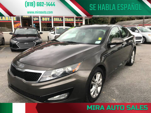 2012 Kia Optima for sale at Mira Auto Sales in Raleigh NC
