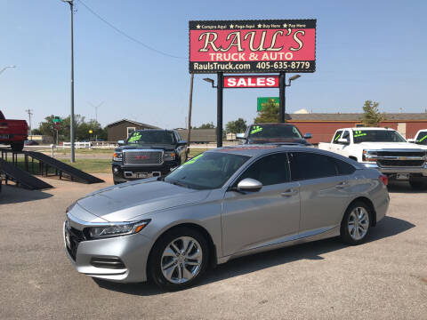 2018 Honda Accord for sale at RAUL'S TRUCK & AUTO SALES, INC in Oklahoma City OK