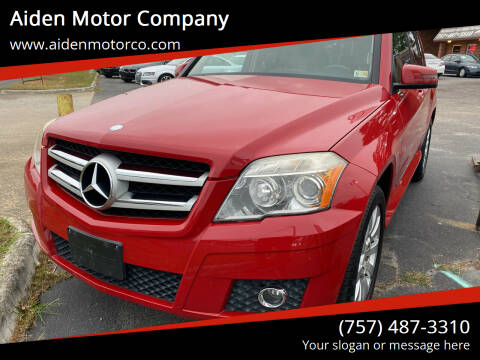 2010 Mercedes-Benz GLK for sale at Aiden Motor Company in Portsmouth VA