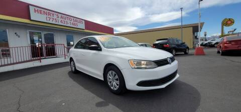 2013 Volkswagen Jetta for sale at Henry's Autosales, LLC in Reno NV