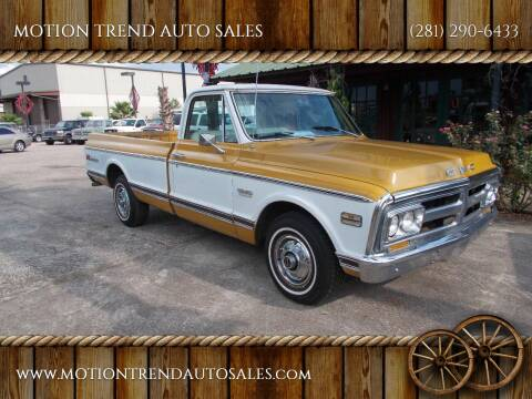 1972 GMC C/K 1500 Series for sale at MOTION TREND AUTO SALES in Tomball TX