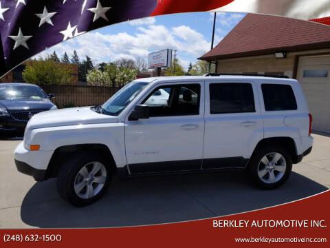 2016 Jeep Patriot for sale at Berkley Automotive Inc. in Berkley MI