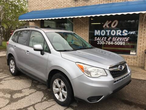 2014 Subaru Forester for sale at K O Motors in Akron OH