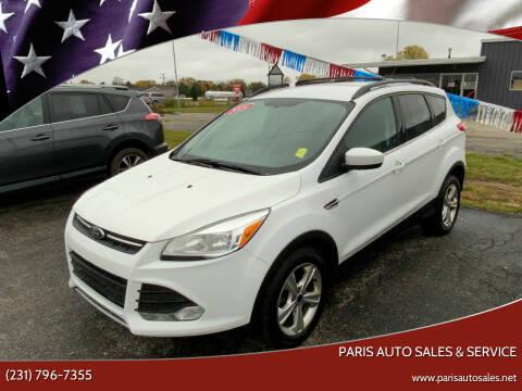 2014 Ford Escape for sale at Paris Auto Sales & Service in Big Rapids MI