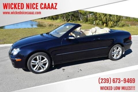 2007 Mercedes-Benz CLK for sale at WICKED NICE CAAAZ in Cape Coral FL