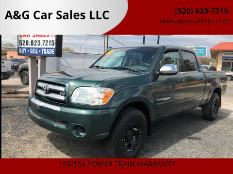 2005 Toyota Tundra for sale at A&G Car Sales  LLC in Tucson AZ