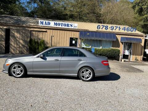 2011 Mercedes-Benz E-Class for sale at Mad Motors LLC in Gainesville GA