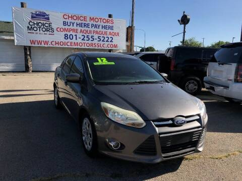 2012 Ford Focus for sale at Choice Motors of Salt Lake City in West Valley  City UT