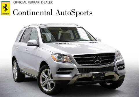 2013 Mercedes-Benz M-Class for sale at CONTINENTAL AUTO SPORTS in Hinsdale IL