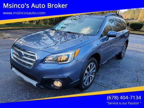 2016 Subaru Outback for sale at Msinco's Auto Broker in Snellville GA