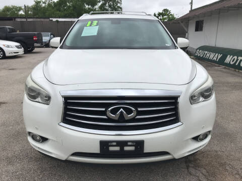 2013 Infiniti JX35 for sale at SOUTHWAY MOTORS in Houston TX