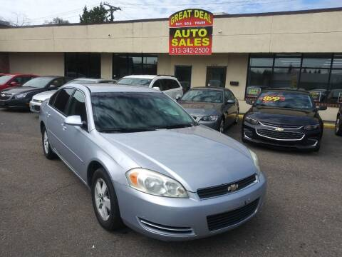 2006 Chevrolet Impala for sale at GREAT DEAL AUTO SALES in Center Line MI