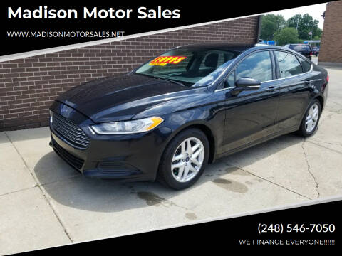 2015 Ford Fusion for sale at Madison Motor Sales in Madison Heights MI