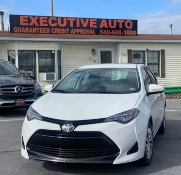 2017 Toyota Corolla for sale at Executive Auto in Winchester VA