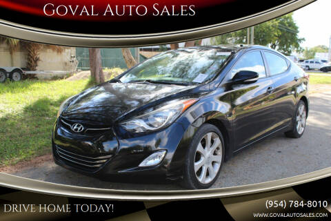 2012 Hyundai Elantra for sale at Goval Auto Sales in Pompano Beach FL