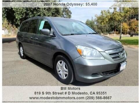2007 Honda Odyssey for sale at BM Motors in Modesto CA