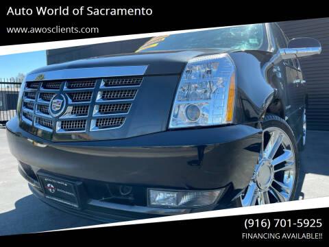 2011 Cadillac Escalade for sale at Auto World of Sacramento Stockton Blvd in Sacramento CA