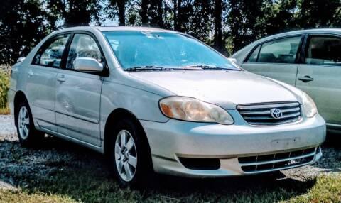 2003 Toyota Corolla for sale at Abingdon Auto Specialist Inc. in Abingdon VA