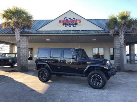 2016 Jeep Wrangler Unlimited for sale at Rabeaux's Auto Sales in Lafayette LA