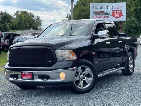 2013 RAM Ram Pickup 1500 for sale at A&M Auto Sales in Edgewood MD