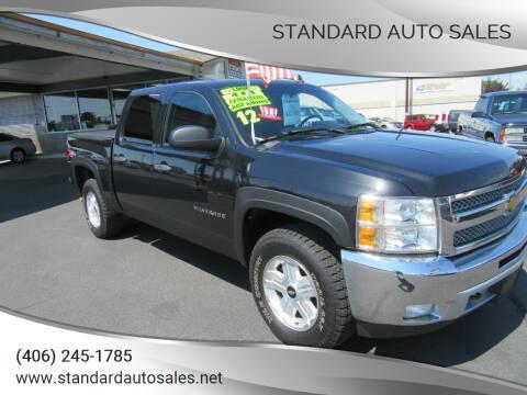 2012 Chevrolet Silverado 1500 for sale at Standard Auto Sales in Billings MT