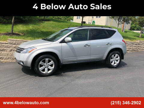 2006 Nissan Murano for sale at 4 Below Auto Sales in Willow Grove PA