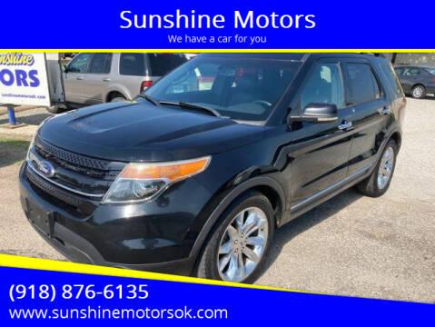 2013 Ford Explorer for sale at Sunshine Motors in Bartlesville OK