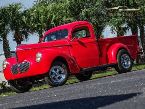 1940 Willys Pickup for sale at SURVIVOR CLASSIC CAR SERVICES in Palmetto FL