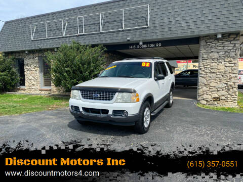 2003 Ford Explorer for sale at Discount Motors Inc in Old Hickory TN