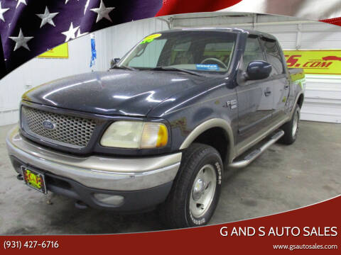 2001 Ford F-150 for sale at G and S Auto Sales in Ardmore TN