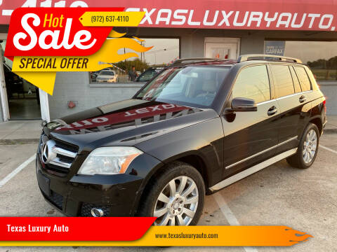 2010 Mercedes-Benz GLK for sale at Texas Luxury Auto in Cedar Hill TX