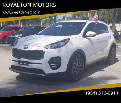 2019 Kia Sportage for sale at ROYALTON MOTORS in Plantation FL