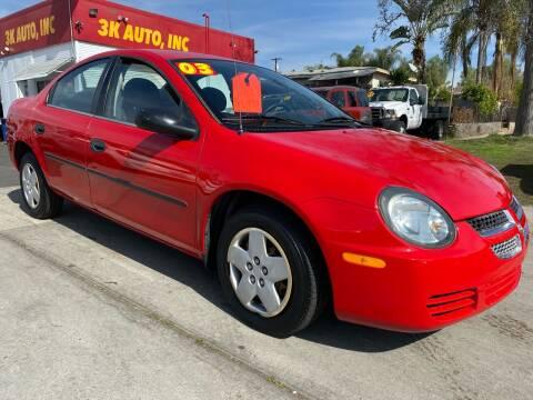2003 Dodge Neon for sale at 3K Auto in Escondido CA