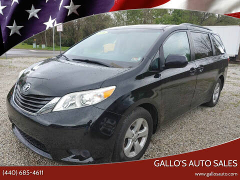 2016 Toyota Sienna for sale at Gallo's Auto Sales in North Bloomfield OH