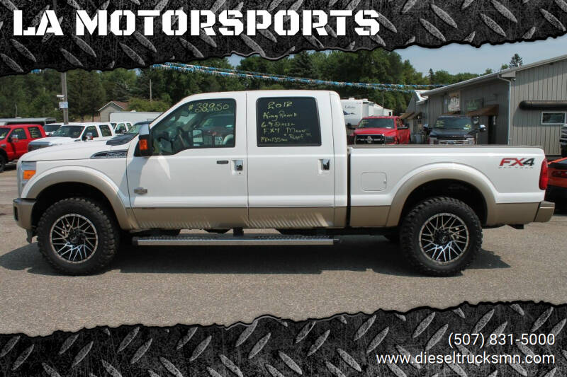2012 Ford F-250 Super Duty for sale at LA MOTORSPORTS in Windom MN