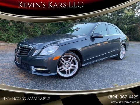 2013 Mercedes-Benz E-Class for sale at Kevin's Kars LLC in Richmond VA