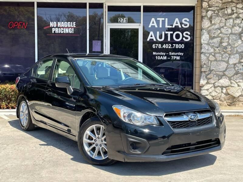 2012 Subaru Impreza for sale at ATLAS AUTOS in Marietta GA