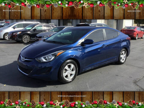 2016 Hyundai Elantra for sale at Beutler Auto Sales in Clearfield UT