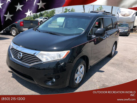 2015 Nissan Quest for sale at Outdoor Recreation World Inc. in Panama City FL
