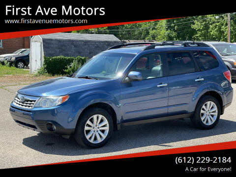 2011 Subaru Forester for sale at First Ave Motors in Shakopee MN